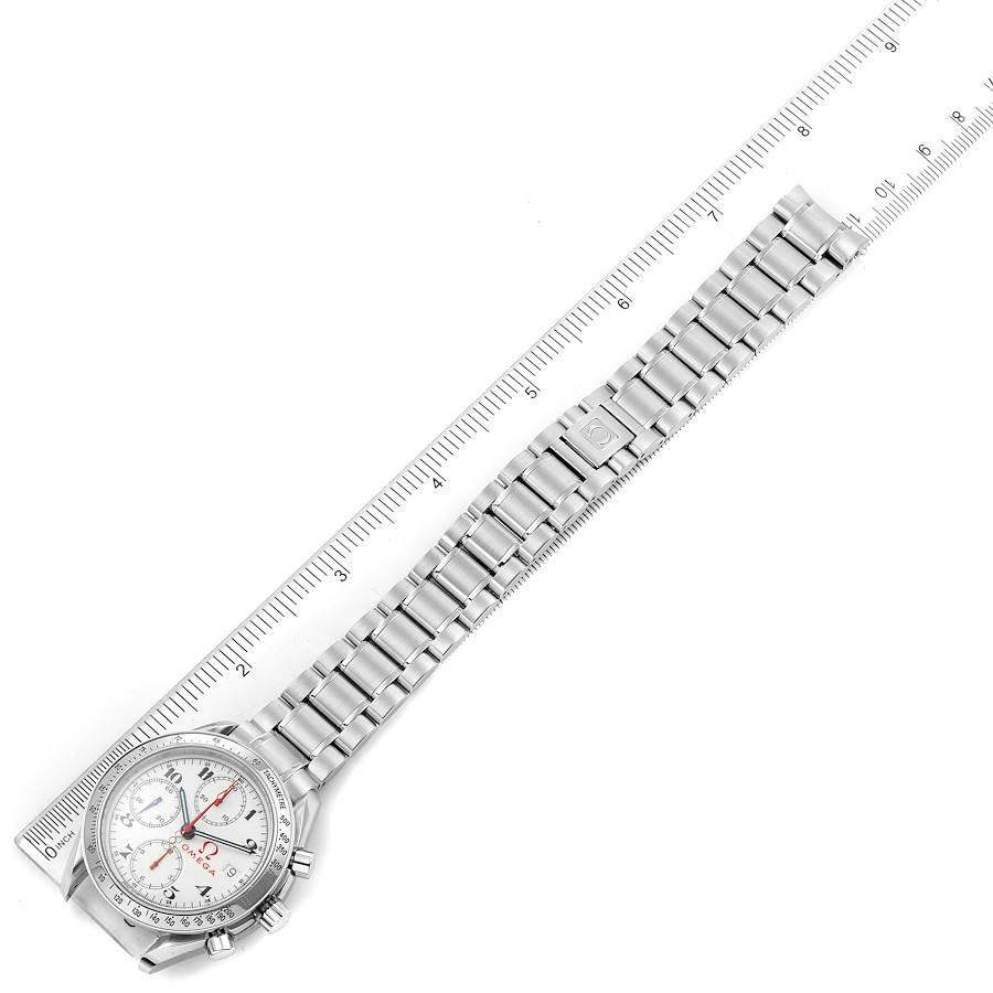 Omega Speedmaster White Dial Chronograph Mens Watch 3515
