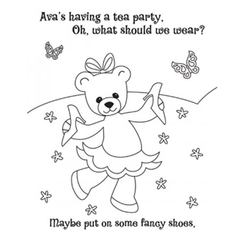 Teddy Bear Tea Party Activity Book