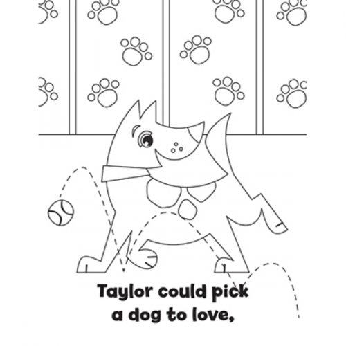 Personalized Pet Park Coloring Book