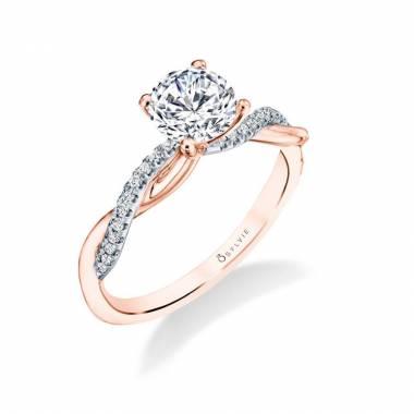 Yasmine Rose Gold Engagement Ring S1524