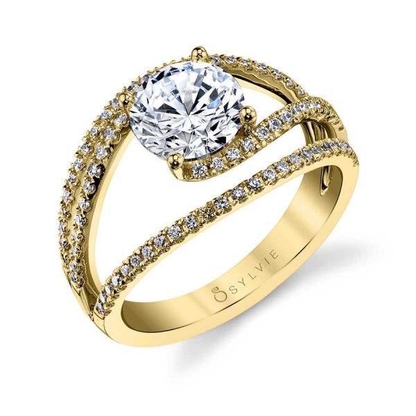 Celia - Unique Split Shank Swirl Engagement Ring | Sylvie