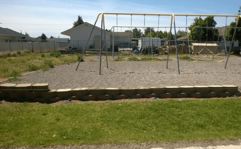 immanuel lutheran | Before STI Playground Turf