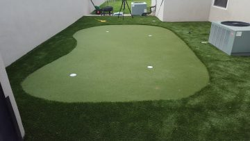 STI Installs a Backyard Putting Green