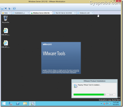 windows server 2012 R2 VHD on Vmware