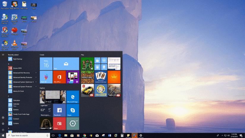Téléchargement du thème Windows 10 Ice Castles
