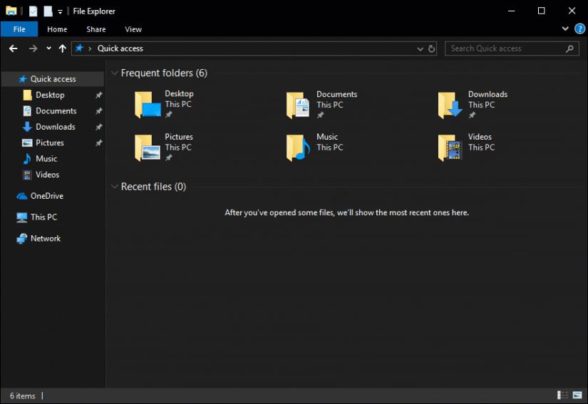 Thème sombre officiel de Windows 10