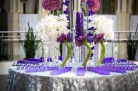 37 Trendy Purple Wedding Table Decorations | Table ...