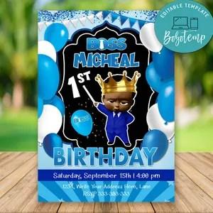 editable baby birthday invitation