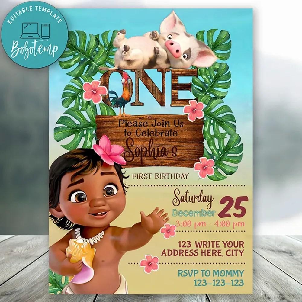 disney princess 1st birthday invitations