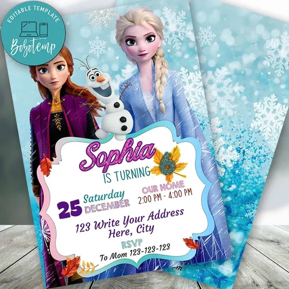 frozen elsa anna olaf birthday party