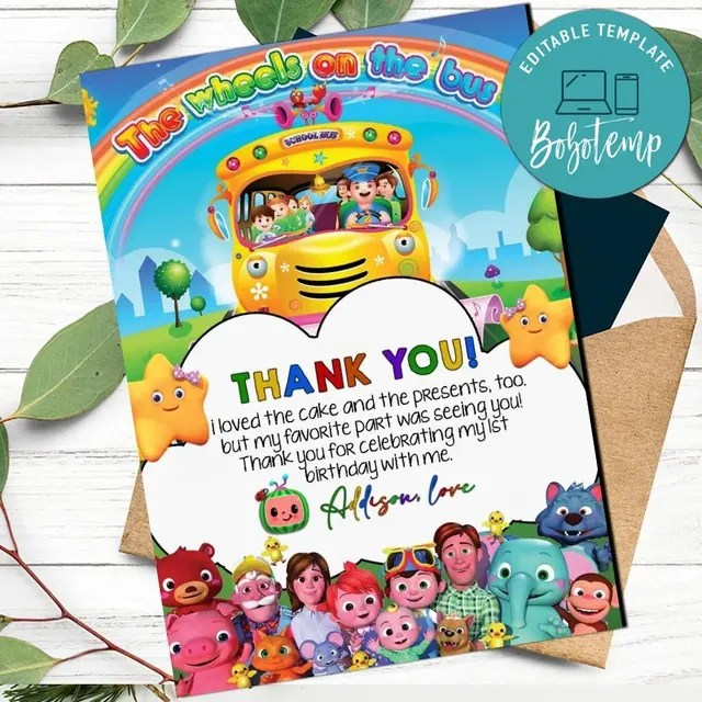 cocomelon thank you card template to print at home