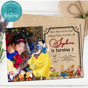 editable kids birthday invitation