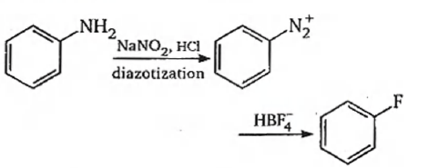 Fluorobenzene (C6 H5F) can be synthesized in the laboratory:
