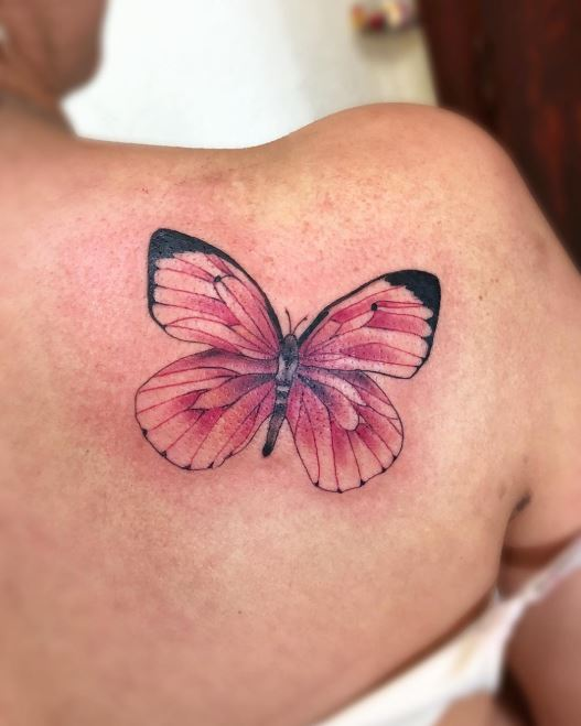 Pink Butterfly Tattoos : butterfly, tattoos, Unique, Butterfly, Tattoos, Women, Meaning, (2020)
