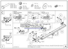 Tažné zařízení Citroen C4 Picasso/Grand Picasso 2013
