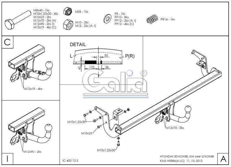 Tažné zařízení Hyundai i30 kombi / Kia Cee'd SW