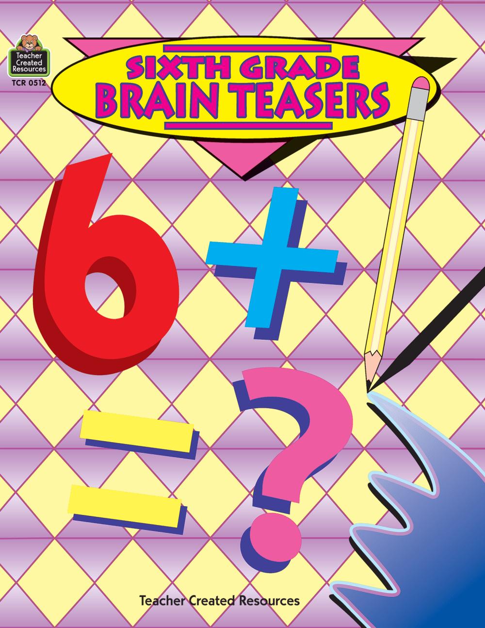 medium resolution of Sixth Grade Brain Teasers - TCR0512   Teacher Created Resources