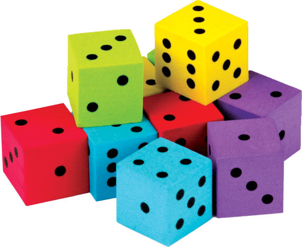 Colorful Dice 20-pack - Tcr20808 Teacher Created Resources