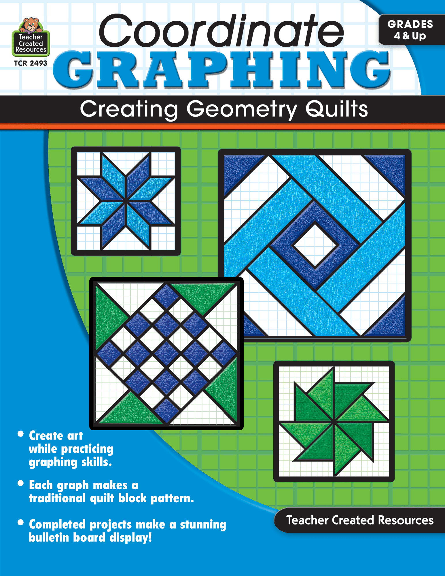 Coordinate Graphing Creating Geometry Quilts Grade 4 Amp Up