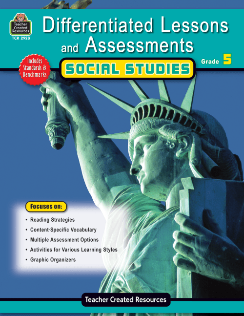 small resolution of Differentiated Lessons \u0026 Assessments: Social Studies Grade 5 - TCR2928    Teacher Created Resources
