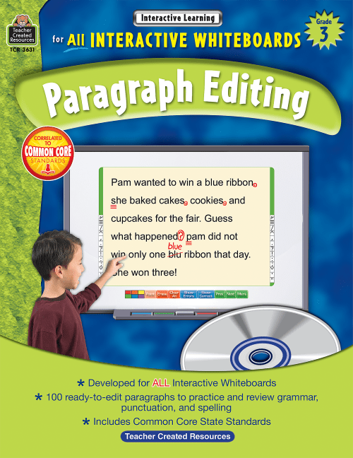 small resolution of Interactive Learning: Paragraph Editing Grade 3 - TCR3631   Teacher Created  Resources