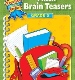 Math Brain Teasers Grade 5 - TCR3755   Teacher Created Resources [ 2000 x 1543 Pixel ]