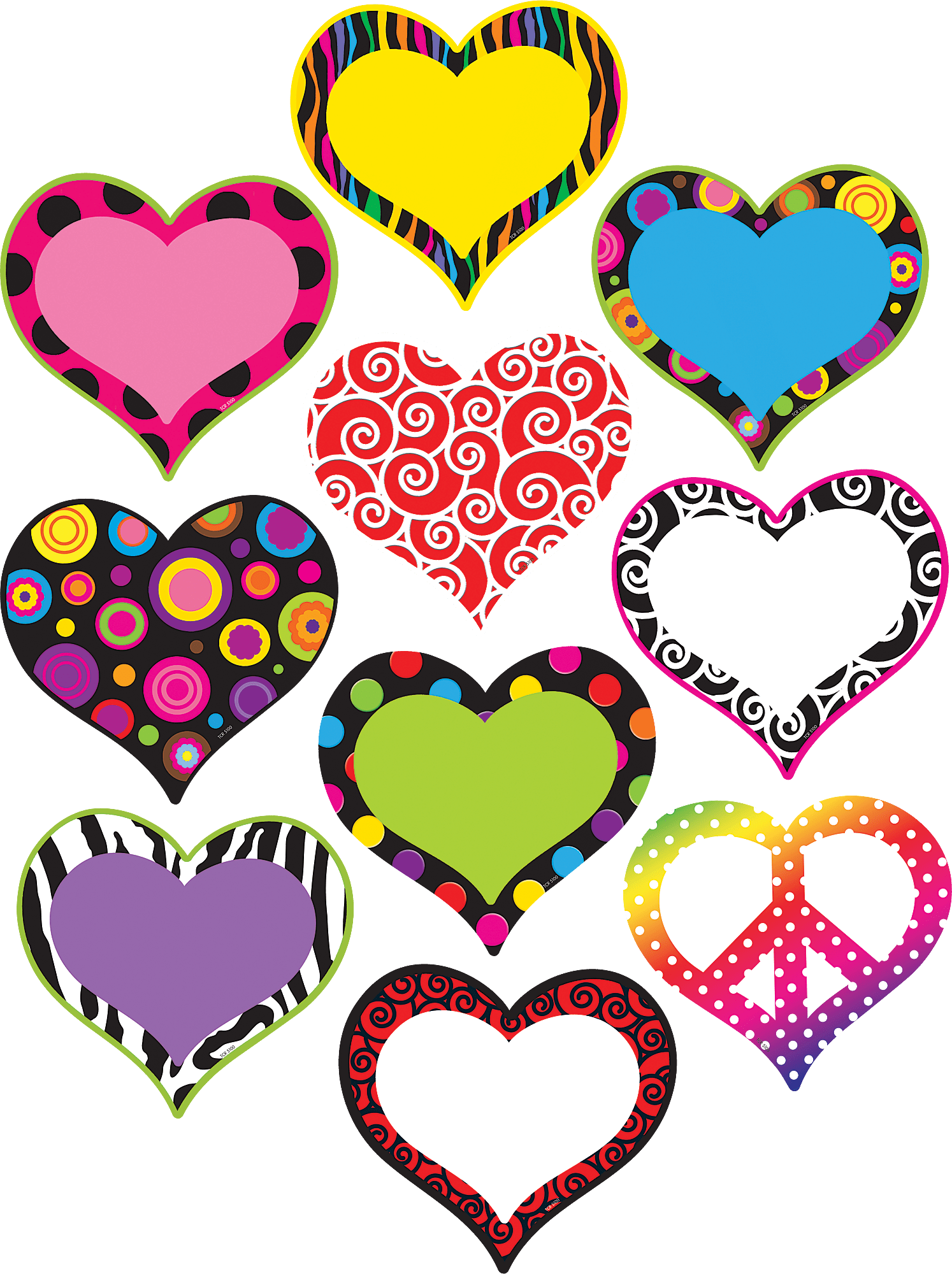Fancy Hearts Accents TCR5100 Teacher Created Resources