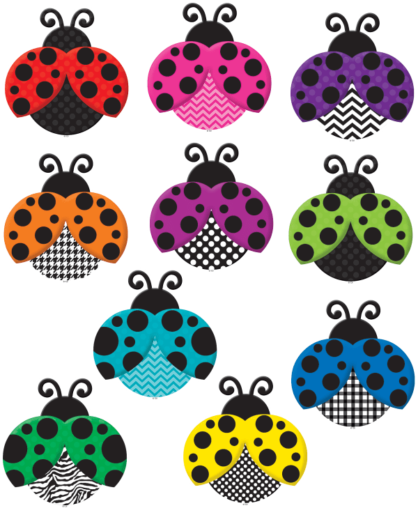colorful ladybugs accents - tcr5414