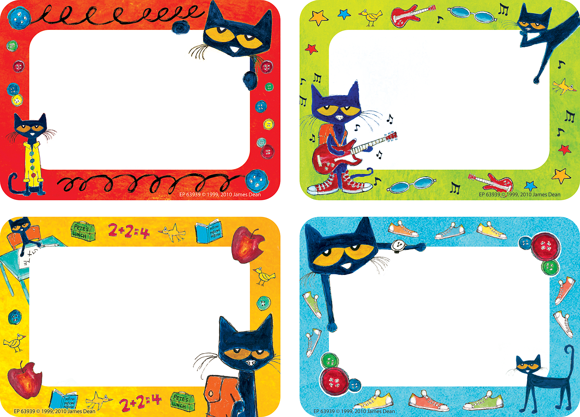 Pete The Cat Name TagsLabels TCR63939 Teacher Created