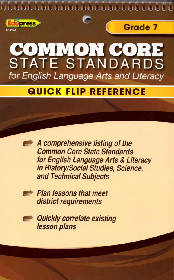 Common Core State Standards Chart