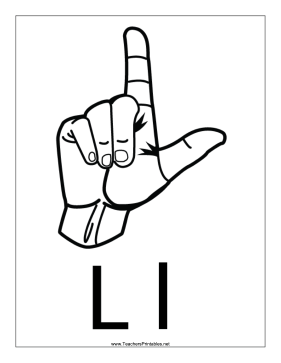 Letter L-Outline-With Label