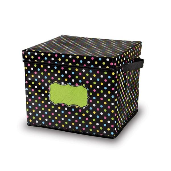 Chalkboard Brights Storage Bins Box 12x12.5x10.5