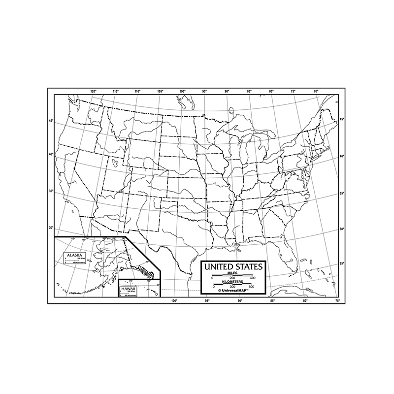 Kappa Education Collection Us Outline Maps Paper