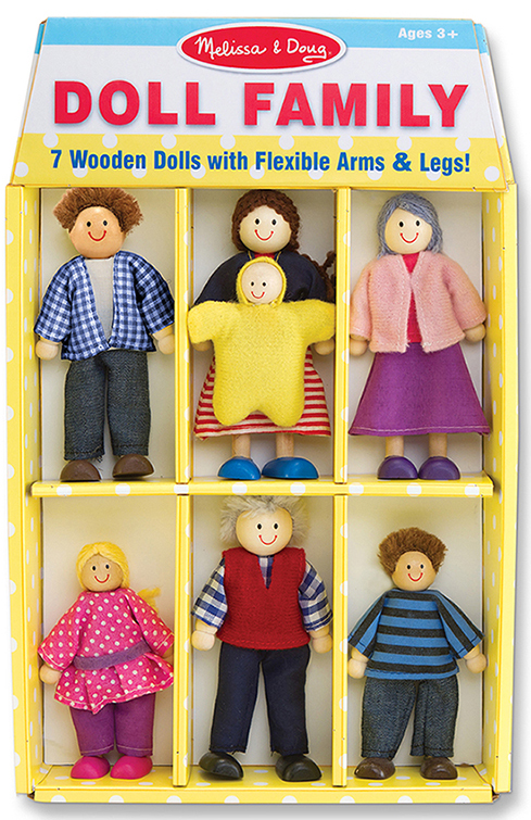 Melissa & Doug Wooden Family Doll Set