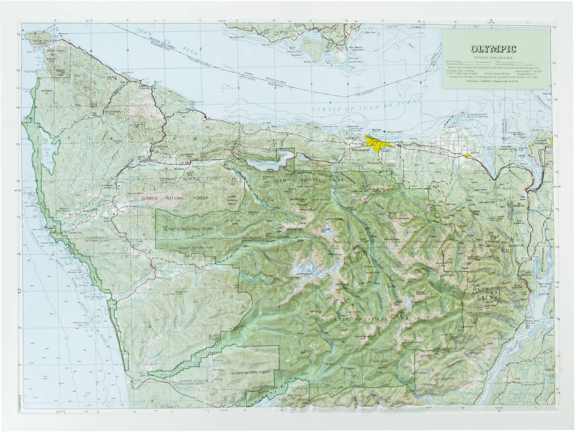 Hubbard Scientific Raised Relief Map Olympic National