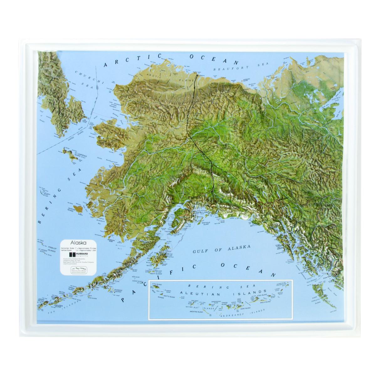 American Education Raised Relief Map Alaska Ncr Series