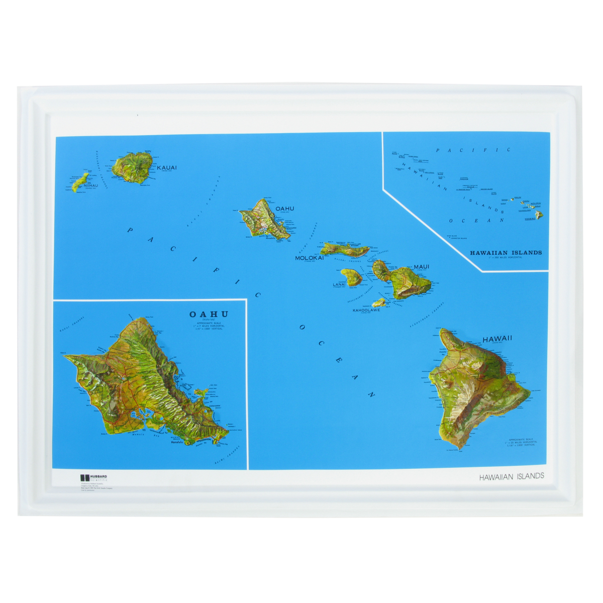 American Education Raised Relief Map Hawaii Ncr Series