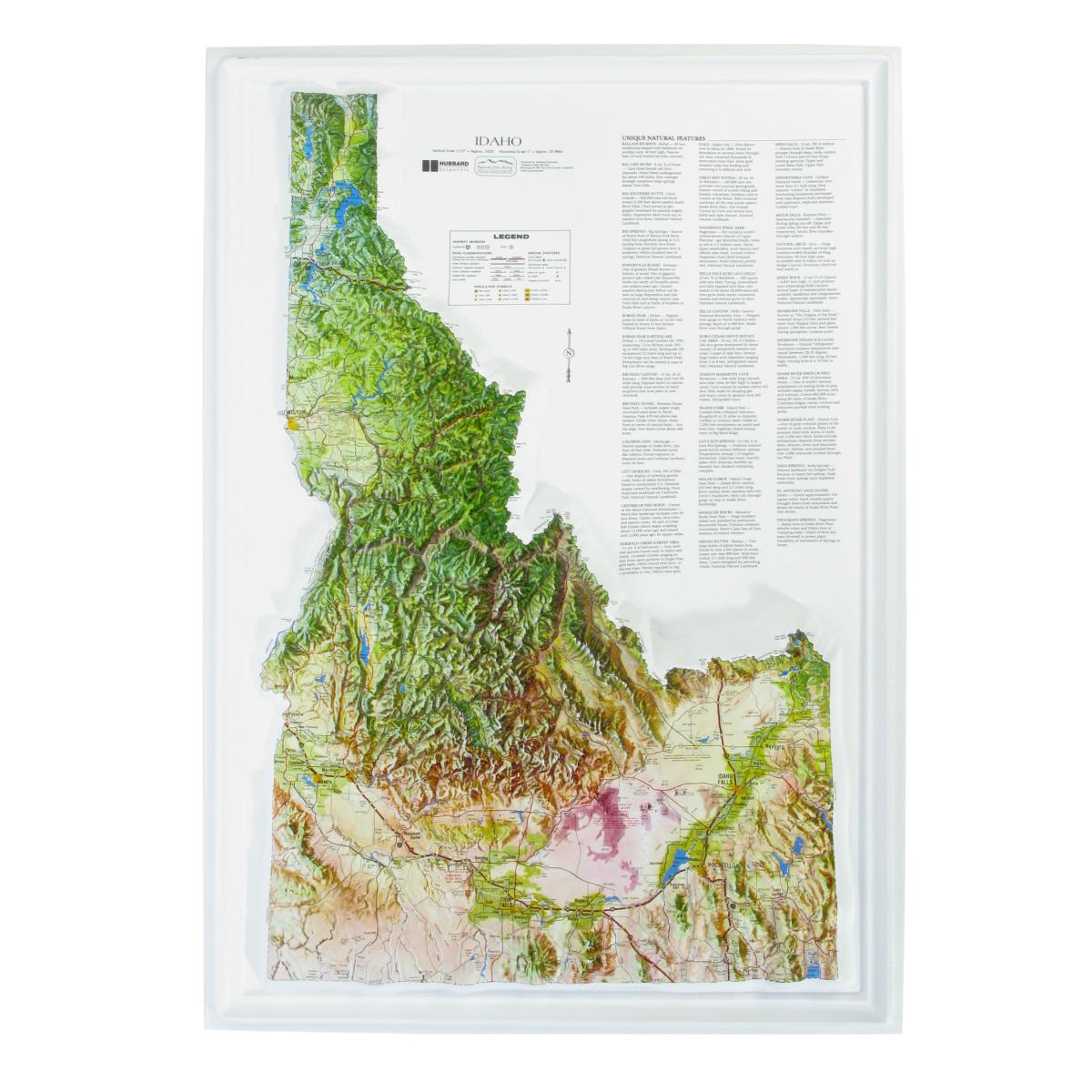 American Education Raised Relief Map Idaho Ncr Series