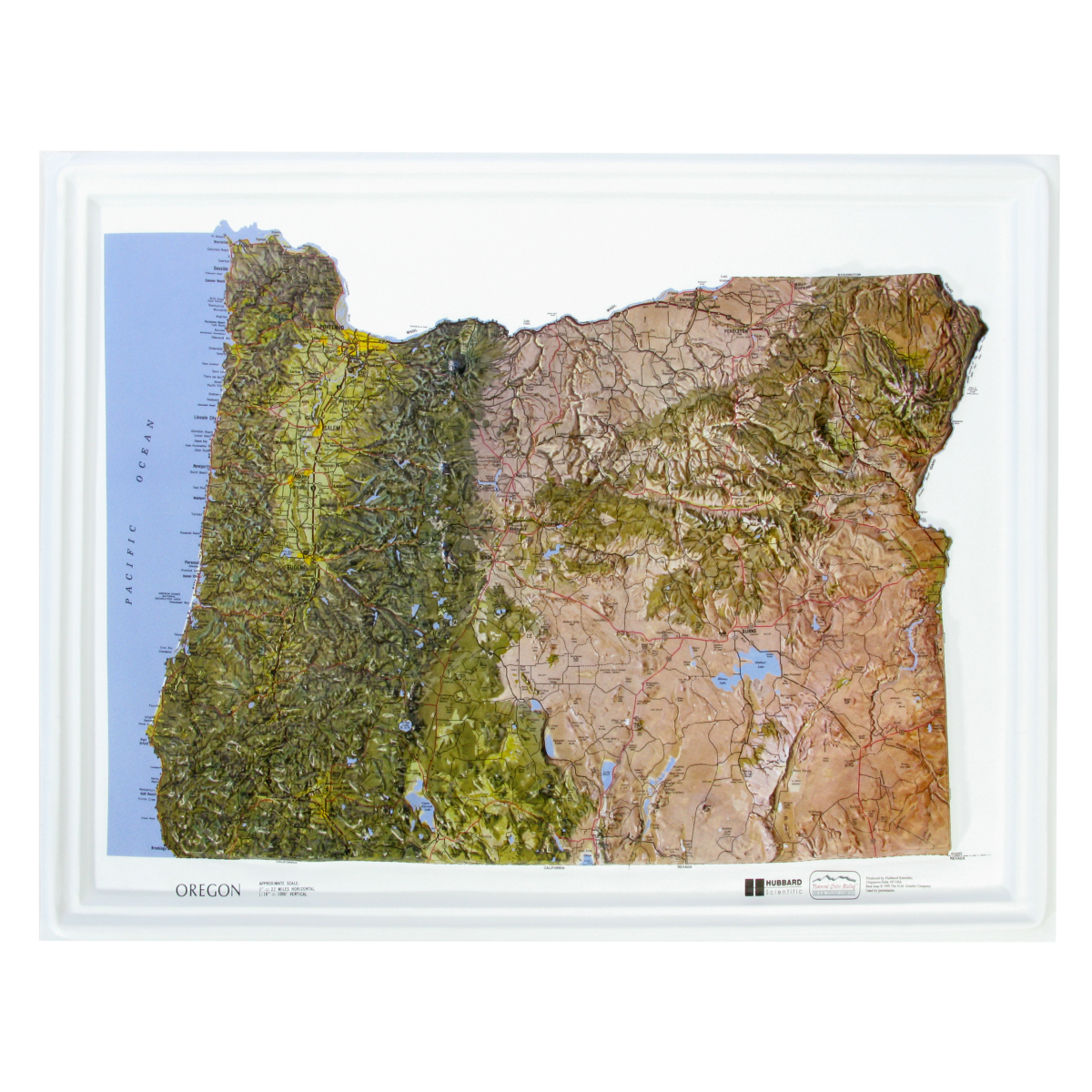 American Education Raised Relief Map Oregon Ncr Series