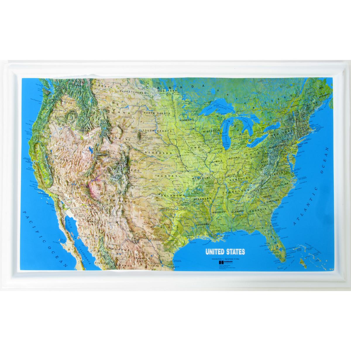 American Education Raised Relief Map U S Ncr Series