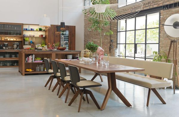 bancs de salle a manger en bois naturel
