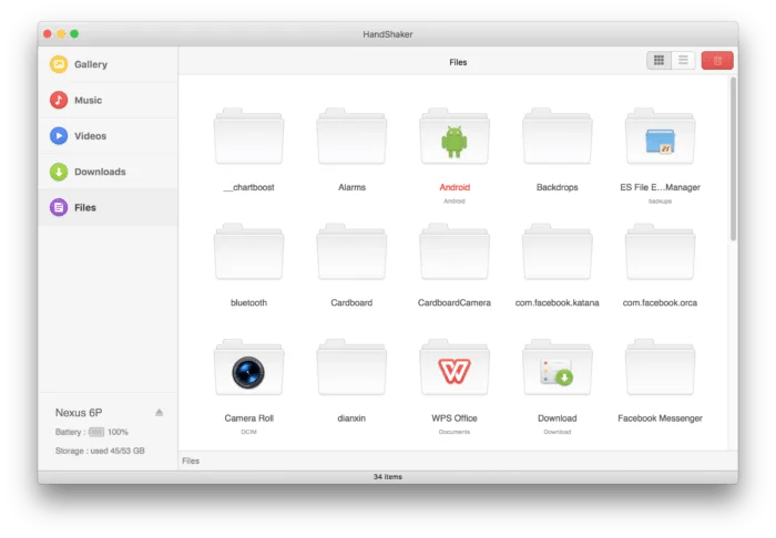 HandShaker for Android and macOS Files Transfer