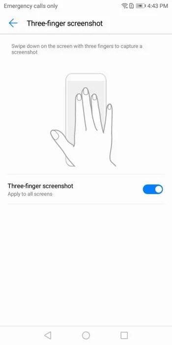 HOW TO: Enable Three-Finger Screenshot on Huawei P20 / EMUI 8