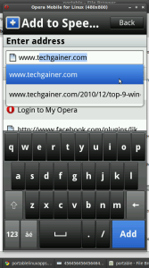 Going to visit TechGainer.com from opera mobile on linux