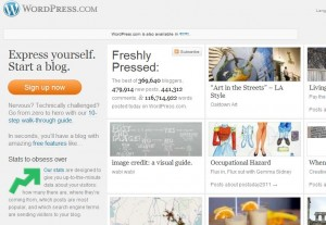 Wordpress.com home page