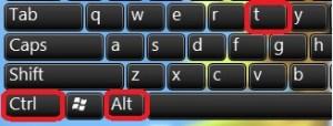 use 2 hot-keys, one is CTRL-ALT-T