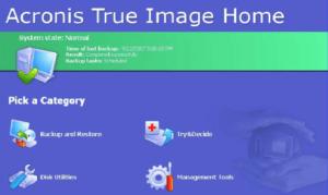 Acronis true image data backup