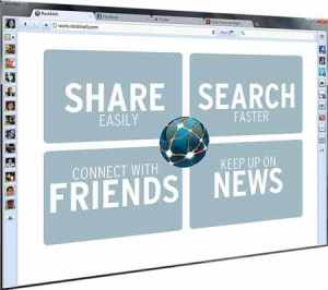 Rockmelt social media web browser