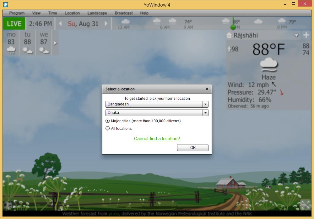 Display Weather on Desktop in Windows Taskbar and