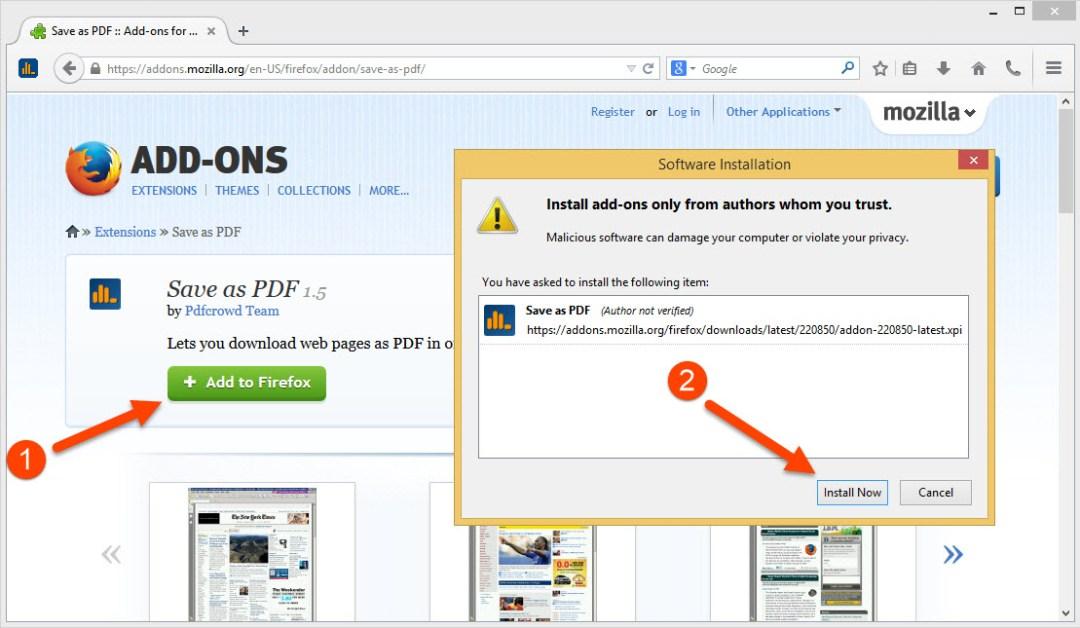 Install Firefox add-on
